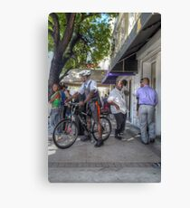 Daily Life on Bay Street in Downtown Nassau, The Bahamas Canvas Print