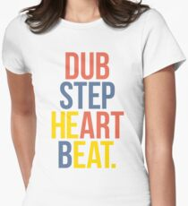Dubstep Heart Beat. (Pun) Women's Fitted T-Shirt