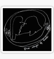 """First Stages of Birth - BLACK""© Sticker"