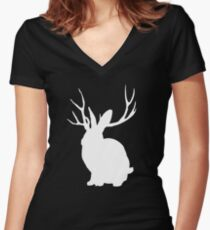 The Rabbit Women's Fitted V-Neck T-Shirt