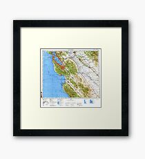Soviet Map of San Francisco Bay Area Framed Print