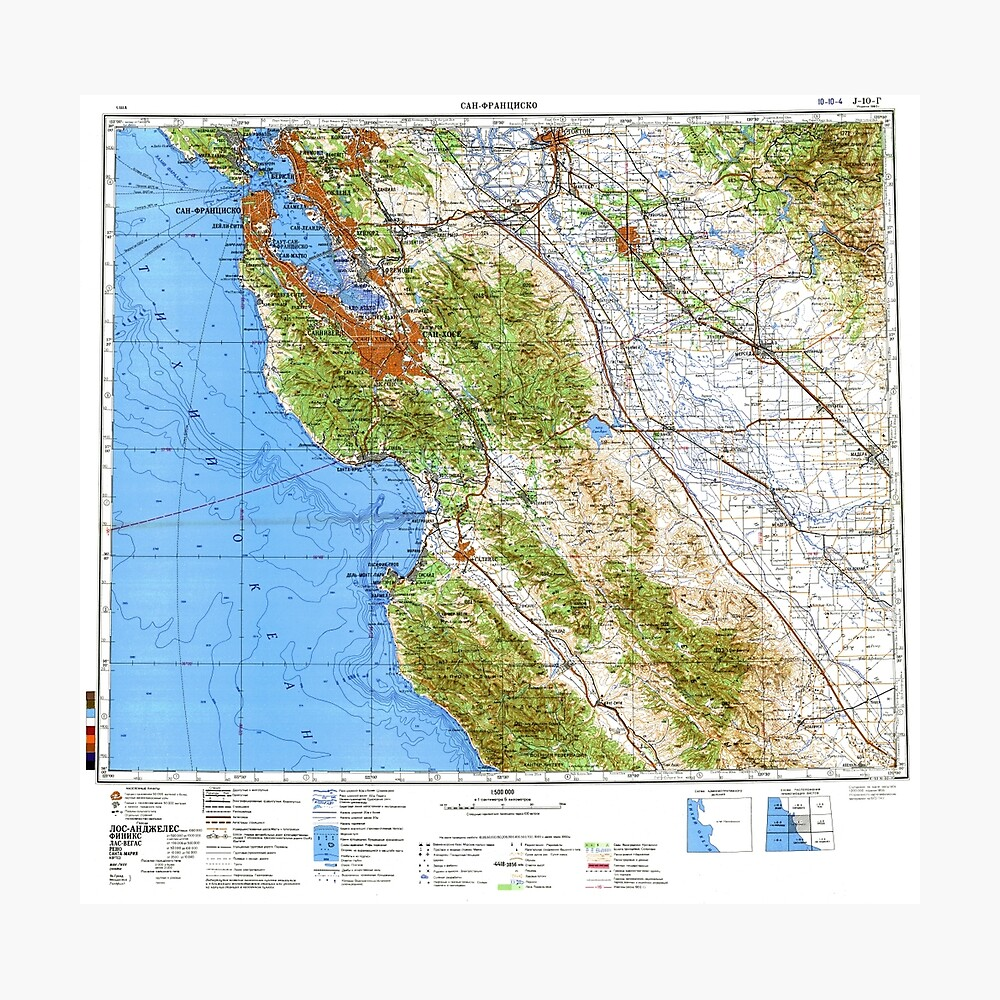 picture relating to Printable Map of San Francisco identified as Soviet Map of San Francisco Bay Local Photographic Print