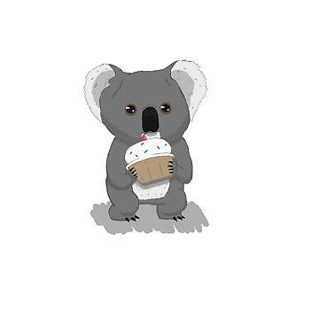 Koala and Cupcake by PinataJohn