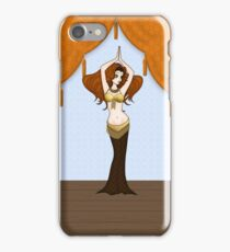 Cute Auburn Haired Bellydancer iPhone Case/Skin