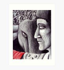 Corrida colored pencil drawing Art Print
