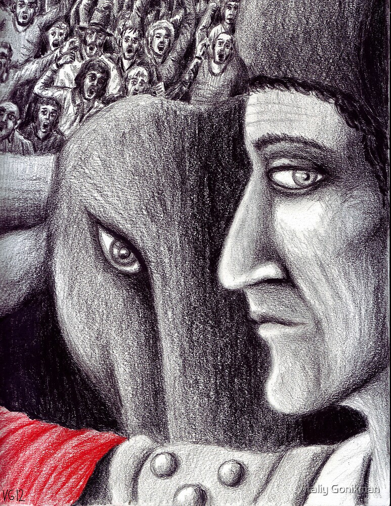 Corrida colored pencil drawing by Vitaliy Gonikman
