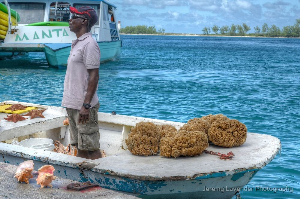 Fisherman selling his Catch of the day in Nassau, The Bahamas by Jeremy Lavender Photography