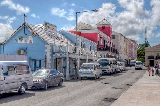 Woodes Rodgers Walk & Bay Street in Downtown Nassau, The Bahamas by Jeremy Lavender Photography