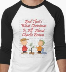 and thats what christmas is all about charlie brown mens baseball t shirt - Peanuts Christmas Shirt