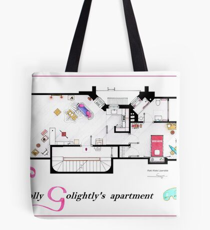 Breakfast at Tiffany's Apartment Floorplan v2 Tote Bag