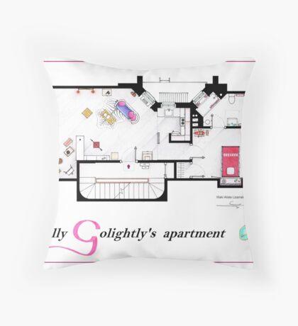 Breakfast at Tiffany's Apartment Floorplan v2 Throw Pillow