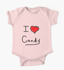 i love halloween candy  One Piece - Short Sleeve