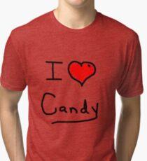 i love halloween candy  Tri-blend T-Shirt