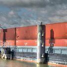 Work ships by Peter Wiggerman