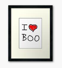 i love halloween boo Framed Print