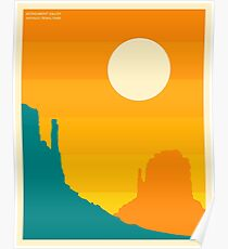 MONUMENT VALLEY, NAVAJO TRIBAL PARK Poster