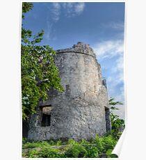 Blackbeard's Tower in Eastern Nassau, The Bahamas Poster