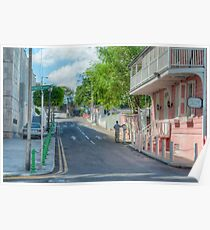 Market Street at Trinity Place in Downtown Nassau, The Bahamas Poster
