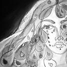 Tears of Beauty in Black & White by Anthea  Slade