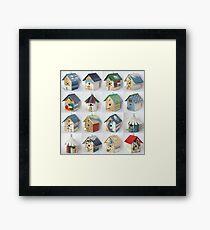Sixteen Houses Framed Print
