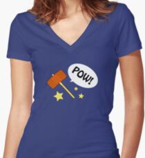 POW hammer! Women's Fitted V-Neck T-Shirt