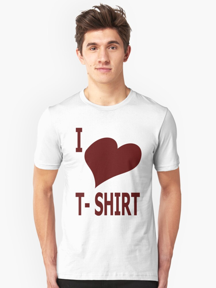 i heart t-shirt (red) by GuidoG