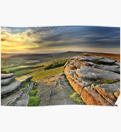 Last Light at Stanage Edge Poster