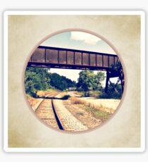 Railroad Tracks And Trestle Sticker