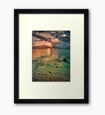 Starfish sunset Framed Print