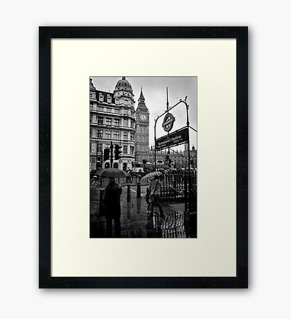 Westminster sight seeing - London - Britain Framed Print