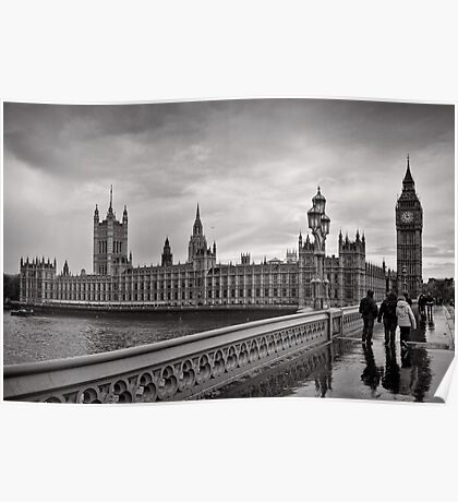 Walking to Westminster - London - Britain Poster
