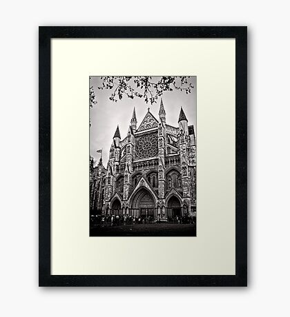 Dampened Faithful - Westminster - London - Britain Framed Print