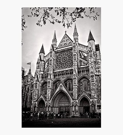 Dampened Faithful - Westminster - London - Britain Photographic Print
