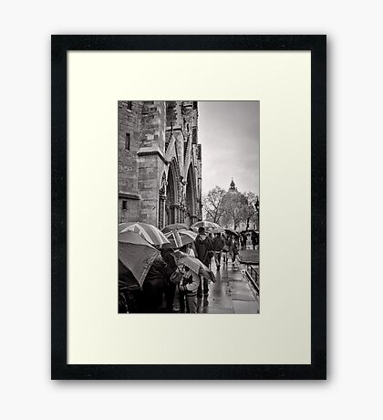 Waiting for Westminster - London - Britain Framed Print