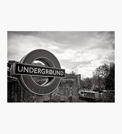 Underground below - London - Britain Photographic Print