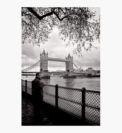 Enjoying the view - Tower Bridge - London - Britain Photographic Print
