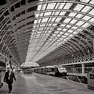 Paddington Platform 9 - London - Britain by Norman Repacholi