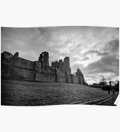 Walking and wondering of the walls that were - Kenilworth - Britain Poster