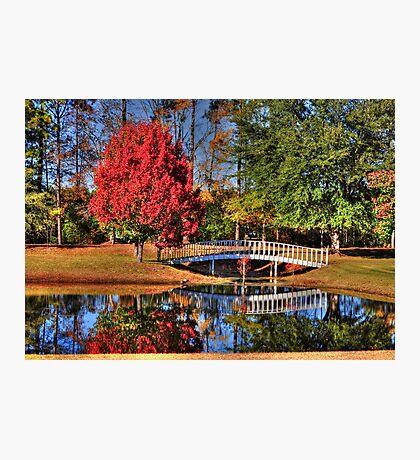 The Little White Bridge Reflection Photographic Print