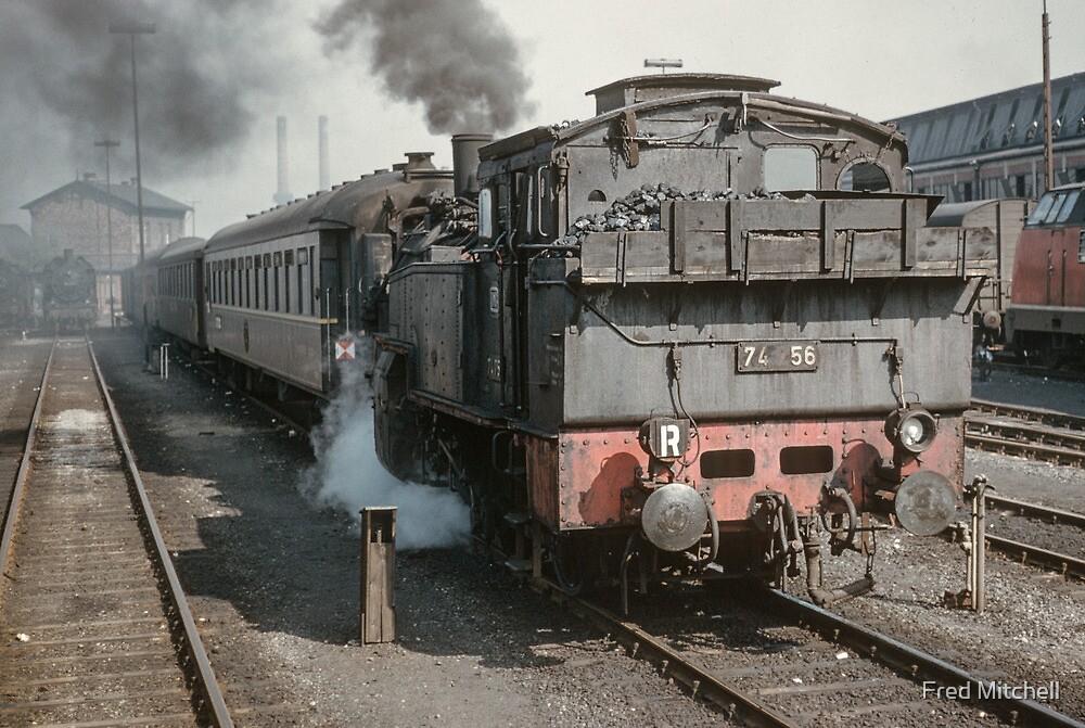 Shunting passenger train Hamburg 19610412 0050  by Fred Mitchell