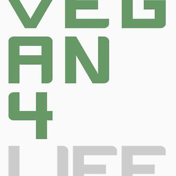 Vegan 4 Life (Green) by jonathanhughes