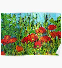 Languedoc Poppies No.4 Poster