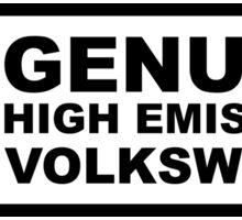 Genuine High Emissions Volkswagen Stickers Sticker
