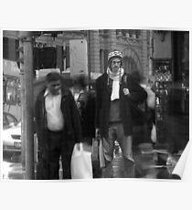 Men on Corner Poster