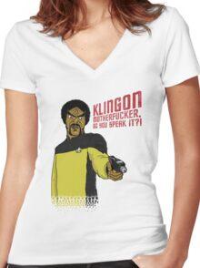 Klingon MotherF**ker Do You Speak It?! Women's Fitted V-Neck T-Shirt