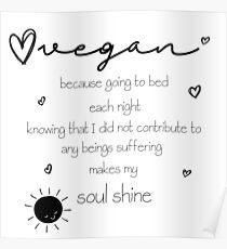 Soul Shine Vegan Poster