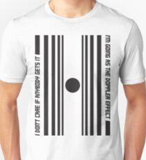 The Doppler effect - Black on white Unisex T-Shirt