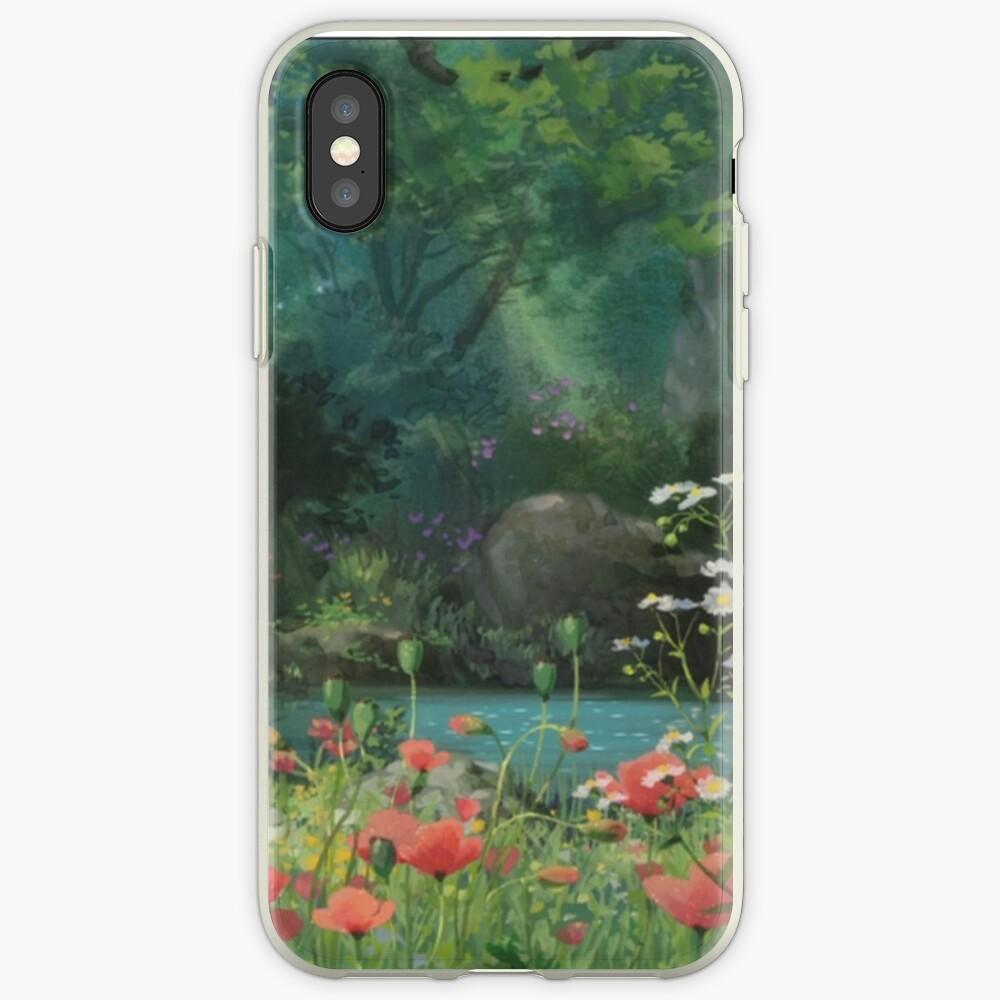 Ghibli Hintergrund iPhone-Hüllen & Cover