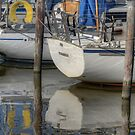 Boat reflections by Peter Wiggerman