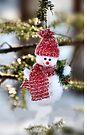 Christmas Snowman iphone case  by Elaine Manley